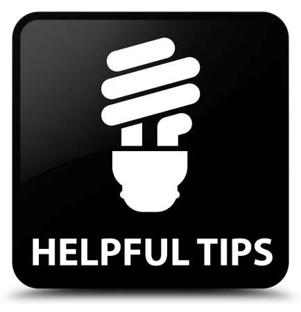 helpful: Helpful tips (bulb icon) black square button