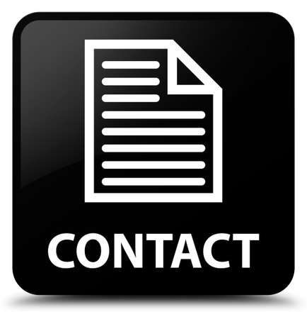 contact page: Contact (page icon) black square button