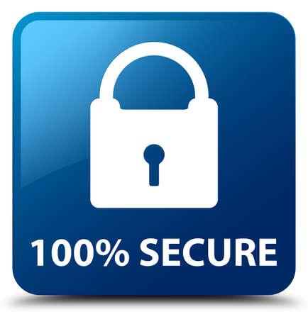 secure: 100% secure blue square button