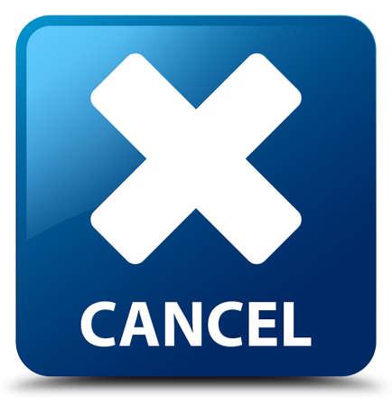 incorrect: Cancel blue square button