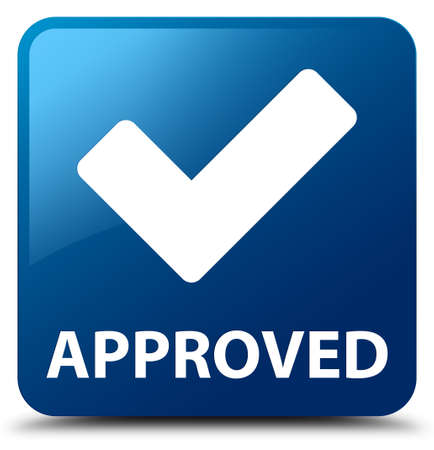 validate: Approved (validate icon) blue square button