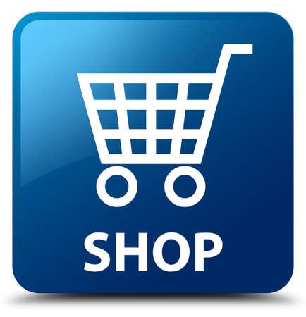 square button: Shop blue square button