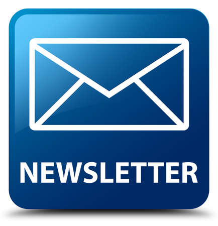 sign up: Newsletter blue square button