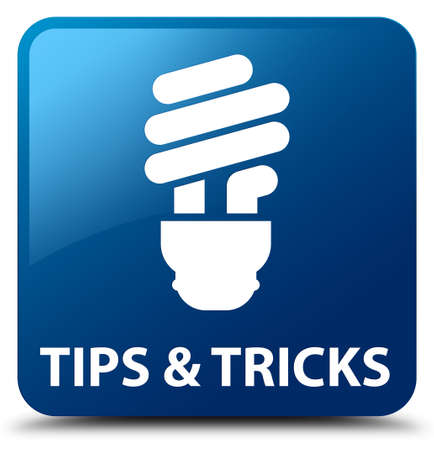 incandescence: Tips and tricks (bulb icon) blue square button