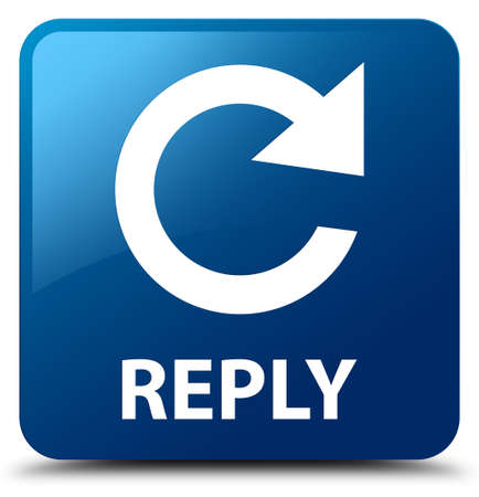 reply: Reply (rotate arrow icon) blue square button