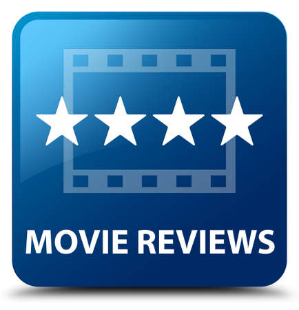 reviews: Movie reviews blue square button