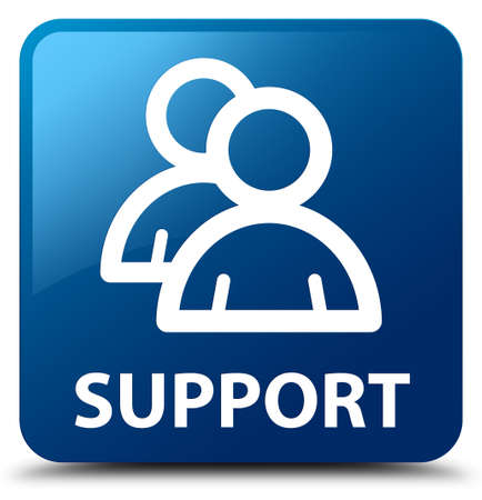 support group: Support (group icon) blue square button