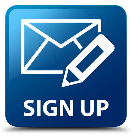 registry: Sign up (edit mail icon) blue square button