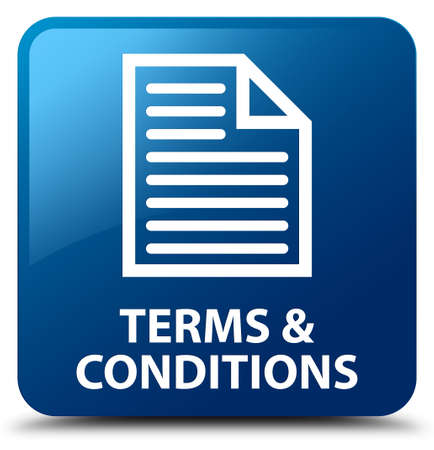 information technology law: Terms and conditions (page icon) blue square button
