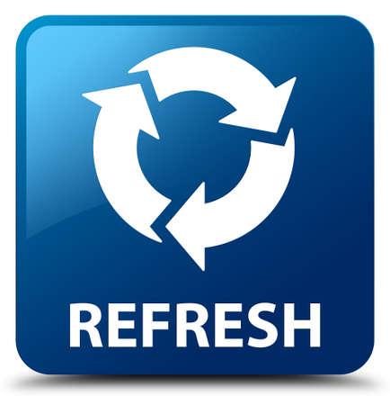 Refresh blue square button