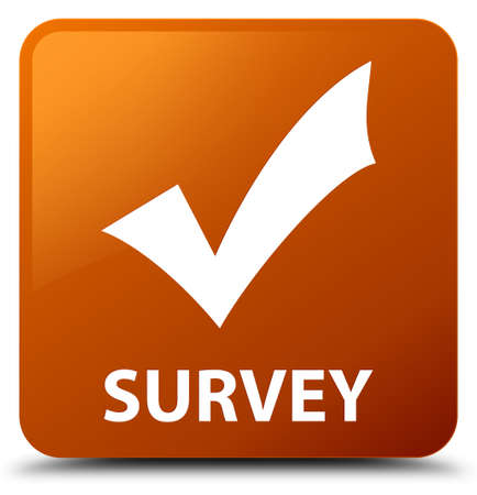 valid: Survey (validate icon) brown square button