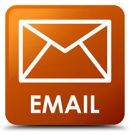 Email brown square button