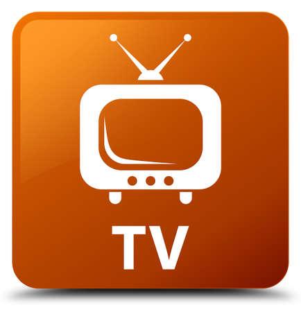 TV brown square button