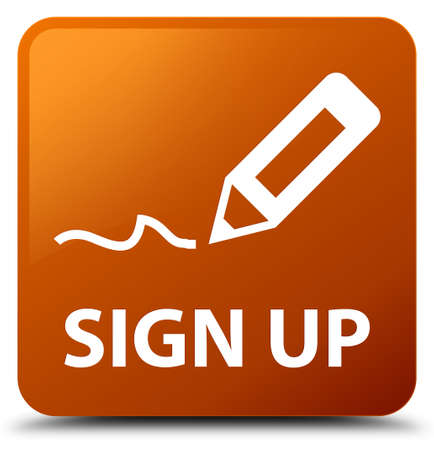 registry: Sign up brown square button
