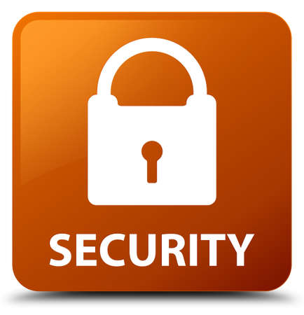 key hole shape: Security (padlock icon) brown square button