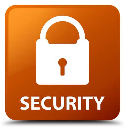 square button: Security (padlock icon) brown square button