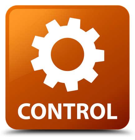 square button: Control (settings icon) brown square button