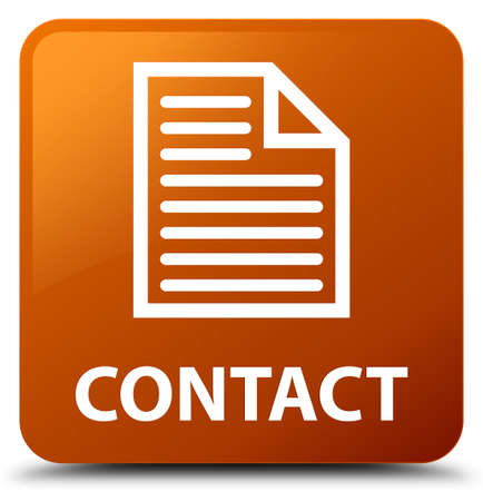 contact page: Contact (page icon) brown square button