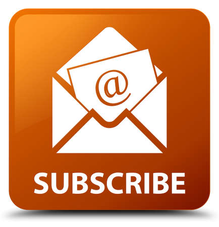 Subscribe (newsletter email icon) brown square button