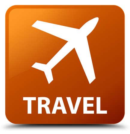 airway: Travel (plane icon) brown square button