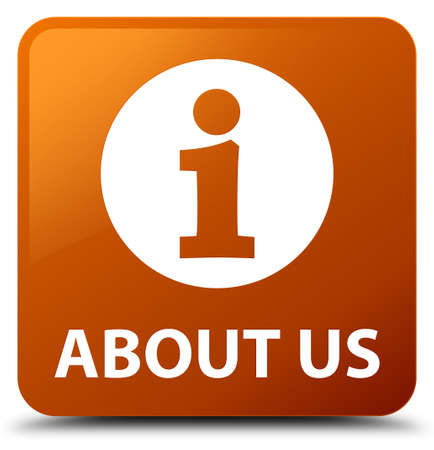 about us: About us brown square button