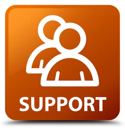 support group: Support (group icon) brown square button