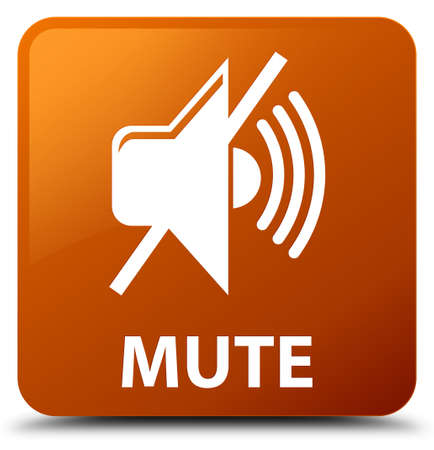 Mute brown square button