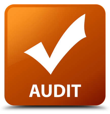 Audit (validate icon) brown square button
