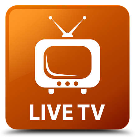 Live tv brown square button