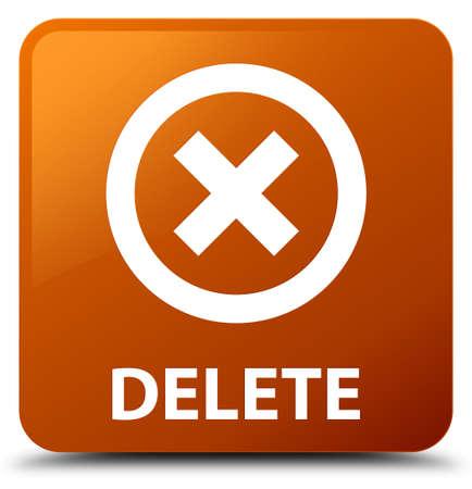 abort: Delete brown square button