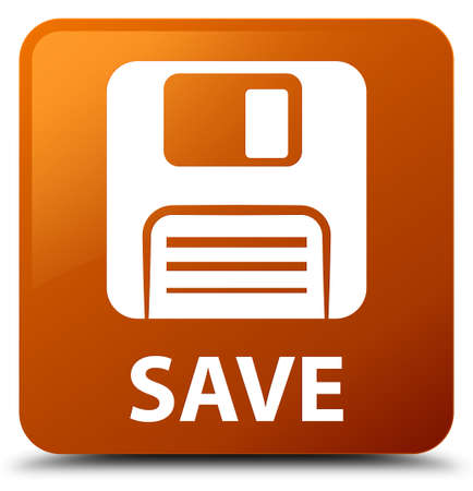 Save (floppy disk icon) brown square button