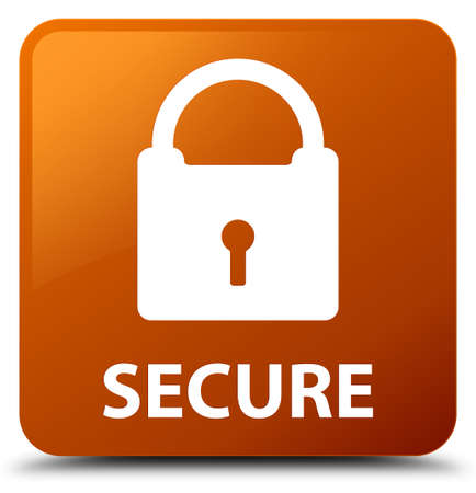 key hole shape: Secure (padlock icon) brown square button