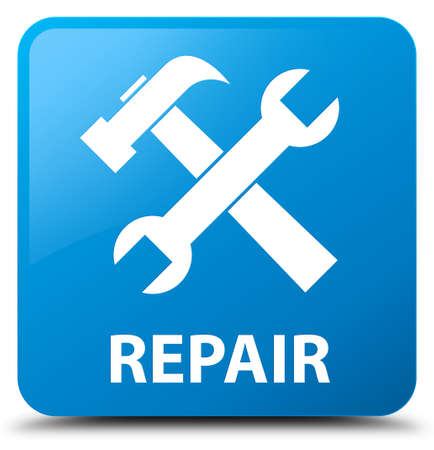 preference: Repair (tools icon) cyan blue square button
