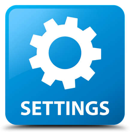 preference: Settings cyan blue square button