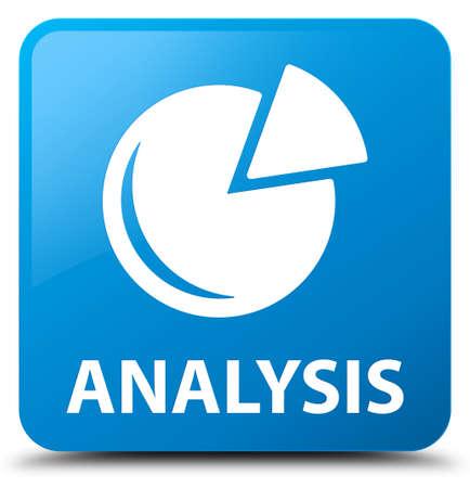 stat: Analysis (graph icon) cyan blue square button Stock Photo