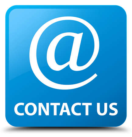 email contact: Contact us (email address icon) cyan blue square button