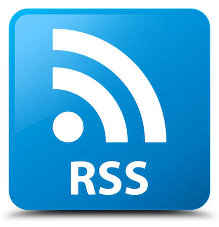 RSS cyan blue square button