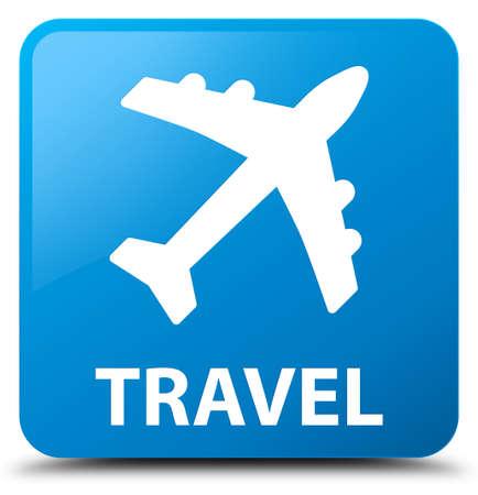 airway: Travel (plane icon) cyan blue square button
