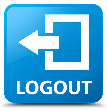 power button: Logout cyan blue square button