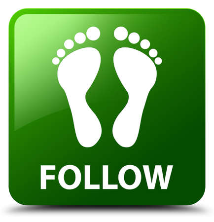 Follow (footprint icon) green square button
