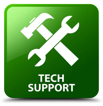 Tech support (tools icon) green square button