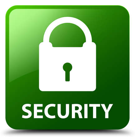 key hole shape: Security (padlock icon) green square button
