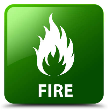 disaster: Fire green square button