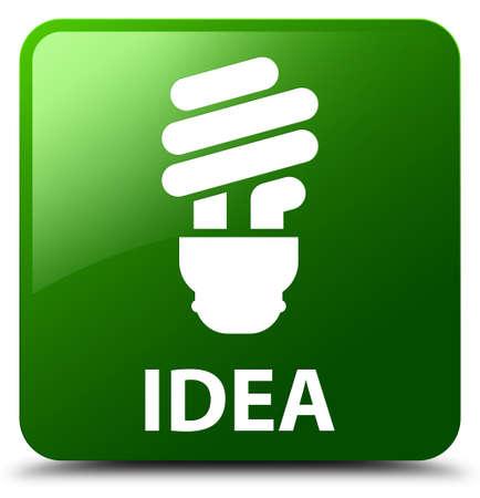Idea (bulb icon) green square button