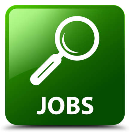 looking for: Jobs green square button Stock Photo