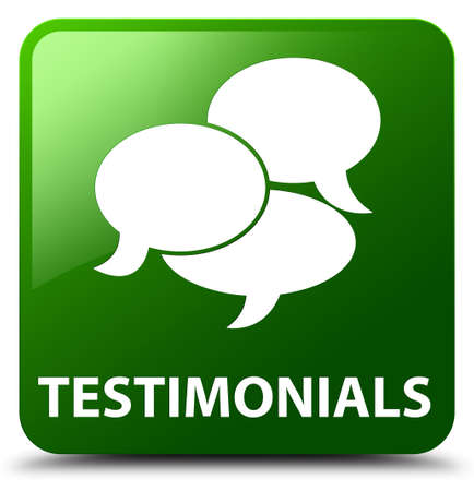 comments: Testimonials (comments icon) green square button