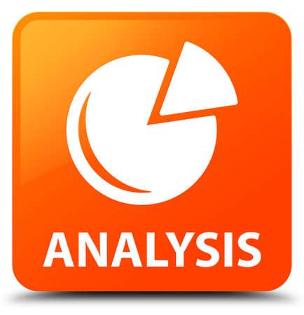 Analysis (graph icon) orange square button