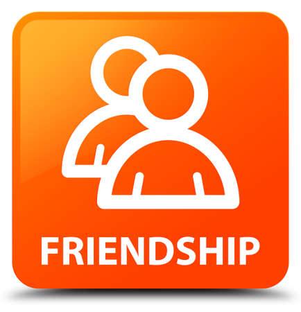 account: Friendship (group icon) orange square button