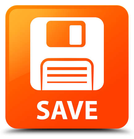 Save (floppy disk icon) orange square button