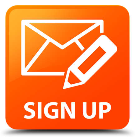 registry: Sign up (edit mail icon) orange square button